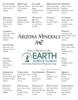 ESciWeek 2020 ESM AZ Minerals A-Z Answers
